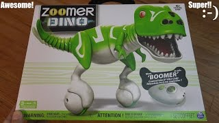 RC Dinosaur Toys: Zoomer Dino Boomer Unboxing & Playtime Part 1 of 2