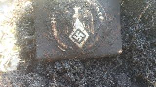 getlinkyoutube.com-Sondeln bringt Koppelschloss WW2 Metal Detecting Eastern Front found a GERMAN BUCKLE