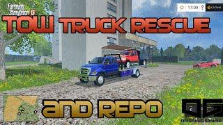 getlinkyoutube.com-Farming Simulator 2015- Tow Truck Rescue and Repo EP1
