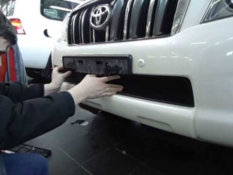 Защита радиатора на Toyota Land Cruiser Prado 150 (Тойота Ленд Крузер Прадо 150)