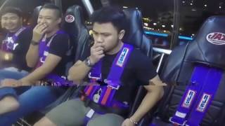 WATCH Thrill seeking lad battles urge to vomit on ride – loses spectacularly