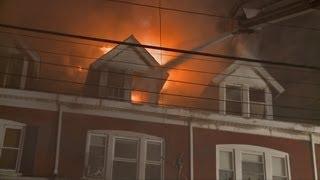 getlinkyoutube.com-3rd Alarm Fire Destroys 7 Homes in Allentown, PA | Dwelling Fire