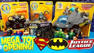 getlinkyoutube.com-Imaginext Justice League Toys Opening with DC Mystery Minis & Imaginext Batman Toys by KidCity