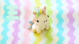 getlinkyoutube.com-Polymer Clay Unicorn Charm Tutorial