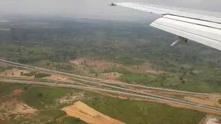 getlinkyoutube.com-Landing at Nnamdi Azikiwe International Airport, Abuja, Nigeria20160609 131942