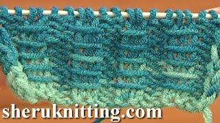 getlinkyoutube.com-Two By Two Ribbing With Bars Knitting Tutorial 10 Free Knitting Stitch Patterns For Beginners