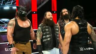 WWE the wyatt family VS Roman  and dean ambrose