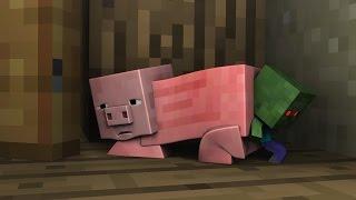 getlinkyoutube.com-Monster School Minecraft (Preschool) and Herobrine's Cat - Minecraft Animations