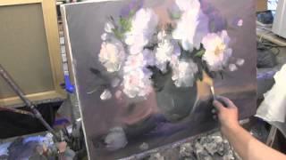 getlinkyoutube.com-Букет пионов , масляная живопись для начинающих в Москве, Сахаров