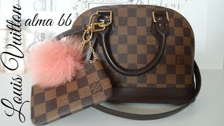 getlinkyoutube.com-What's in my Purse!? Louis Vuitton Alma BB - 2016