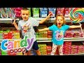 KID IN A CANDY STORE!! Gummy vs Real CANDY SHOPPING in a Giant Candy Sweet Shop For Kids