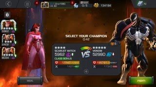getlinkyoutube.com-Marvel Contest of Champions - Alliance Quest Map 5: Scarlet Witch VS Venom