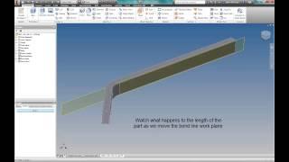 Bend Part in Autodesk Inventor