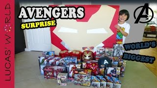 getlinkyoutube.com-World's Biggest HULK BUSTER Iron Man Square Surprise Egg AVENGERS Age of Ultron Toys | Lucas World