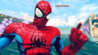 Ultra Street Fighter 4 - Spiderman Costume Skin Mod Arcade Ladder 60FPS Gameplay Playthrough