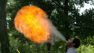 getlinkyoutube.com-Fire Breathing in Slow Motion - The Slow Mo Guys