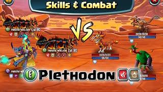 getlinkyoutube.com-Plethodon [Fire, Earth] - Skills & Combat - Monster Legends