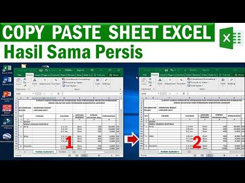 Cara Cepat Copy Sheet Excel