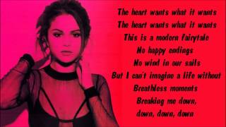 getlinkyoutube.com-Selena Gomez - The Heart Wants What It Wants Karaoke / Instrumental with lyrics on screen