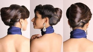 getlinkyoutube.com-Hairstyle - French Bun With Side Waves