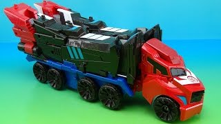 getlinkyoutube.com-MEGA OPTIMUS PRIME ROBOTS IN DISGUISE 3 STEP CHANGER TOY