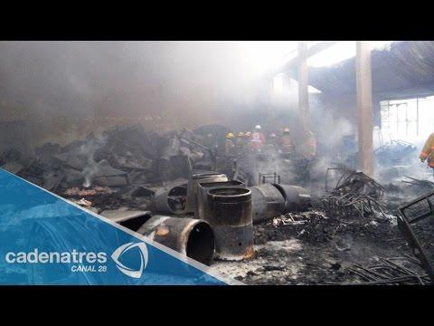 Incendio en tienda de telas en Uruapan, Michoacán