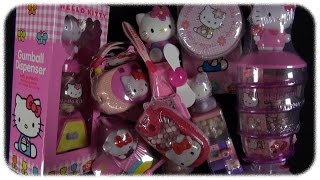 getlinkyoutube.com-Hello Kitty - Candy Toys [Mega Unboxing]