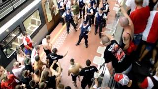 Slavia Prague vs. cops - Brussels 25.08.2016