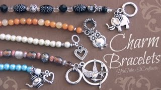getlinkyoutube.com-DIY Beaded Charm Bracelet with wire, crimp beads, & clasps ♥ Beaded Pearl Jewelry Making How-To