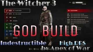 getlinkyoutube.com-The Witcher 3: THE GOD BUILD - MOST OP BUILD IN GAME! NG+/DM
