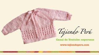 getlinkyoutube.com-Dos agujas: chaquetita para bebé (Parte 1)