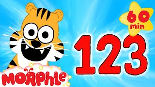 getlinkyoutube.com-Learn to Count to 10 With Cute Animals | Learn Numbers with Morphle + 1 hour kids compilation