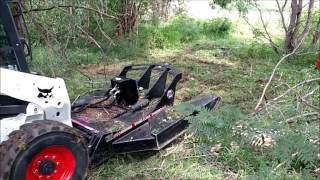 getlinkyoutube.com-Skid Steer Attachment Demo Day - Pasture Clearing 2016