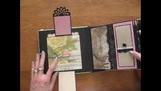 getlinkyoutube.com-6x6 Scrapbook Mini Album with Tim Holtz Wallflower Paper Stack (Birds, bugs, wildflowers)