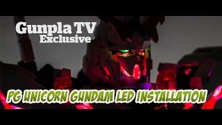 getlinkyoutube.com-Gunpla TV Exclusive – PG Unicorn Gundam LED Installation - Hlj.com