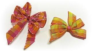 getlinkyoutube.com-Como hacer lazos perfectos muy fácil. Perfect bow, easy.
