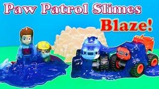 getlinkyoutube.com-PAW PATROL Nickelodeon Paw Patrol Slimes Blaze and the Monster Machine Toys Video Parody