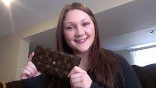 getlinkyoutube.com-Review: Louis Vuitton Monogram Sarah Wallet