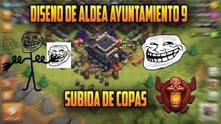 getlinkyoutube.com-Diseño de Aldea / Th9 / Ayuntamiento 9 / Troll / Subida de Copas / Clash Of Clans / COC