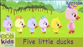 getlinkyoutube.com-Five little ducks from EcoKids Club - Karaoke - Children Nursery Rhyme - Kids Songs