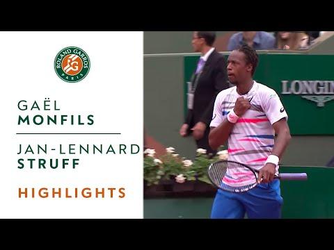 G. Monfils v. J.-L. Struff 2014 French Open Men`s R2 Highlights