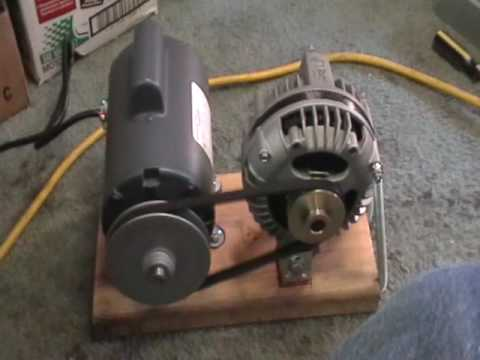 Maxflow 3 Phase Alternator Mounted With 12 Hp Electric Moto