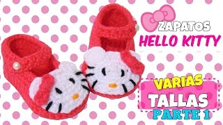 getlinkyoutube.com-Zapatitos de Hello Kitty tejidos a crochet | parte 1/2
