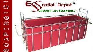 Making Double Creamy Soap with Stackable Soap Mold Basket for Essential Depot RED Mold