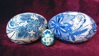 getlinkyoutube.com-How to Create Delft Inspired Porcelain Pottery Blue Eggs using Pysanky Batik Techniques