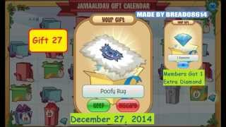 getlinkyoutube.com-Animal Jam: Jamaaliday Gift Calendar 2014 - All Gifts