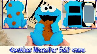 getlinkyoutube.com-DIY crafts: mobile felt case like the Cookie Monster, easy crafts - handmade - Youtube - Isa ❤️