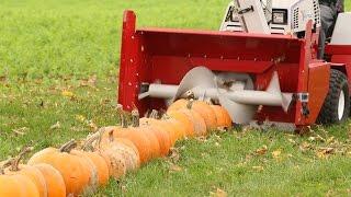 getlinkyoutube.com-100 Pumpkins vs Snowblower