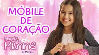 getlinkyoutube.com-Como fazer um móbile lindo de coração para o quarto com a Lyvia Maschio ❤ Mundo da Menina