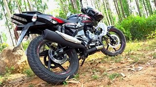 getlinkyoutube.com-World First Exclusive!! 2017 Bajaj Pulsar 180 DTSi BS4 Dual Disc Review, First Ride, Walkaround